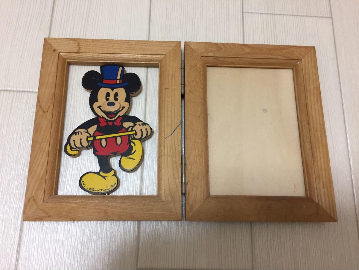 フォトフレーム 写真立て ミッキー 木製フォトフレーム ミッキーマウス レトロ