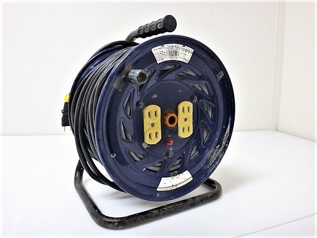 日動工業◆50m【電工ドラム NF-504D】電工リール/延長コード/コードリール◆100V-屋内型