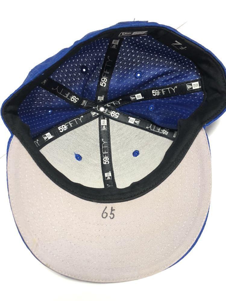 国吉佑樹 実使用 ホーム 横浜DeNAベイスターズ NEW ERA ニューエラ 59FIFTY 7 1/2 59.6cm キャップ帽子 実着用 オーセンティック 国吉 5950_画像5
