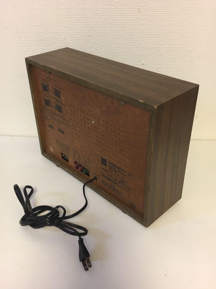 9Jさ09 トランジスタラジオ ナショナル RE-780 木調デザイン 古いラジオ 昔のラジオ National FM AM 昭和レトロ アンティークラジオ_画像4