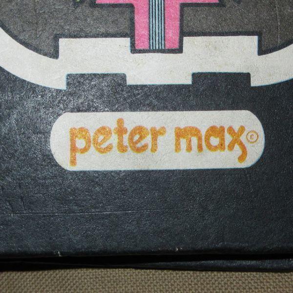アンティーク雑貨 70's PETER MAX ピーターマックス バインダー ファイル グッズ ヒッピー サイケアート ヴィンテージ アーティスト_画像5