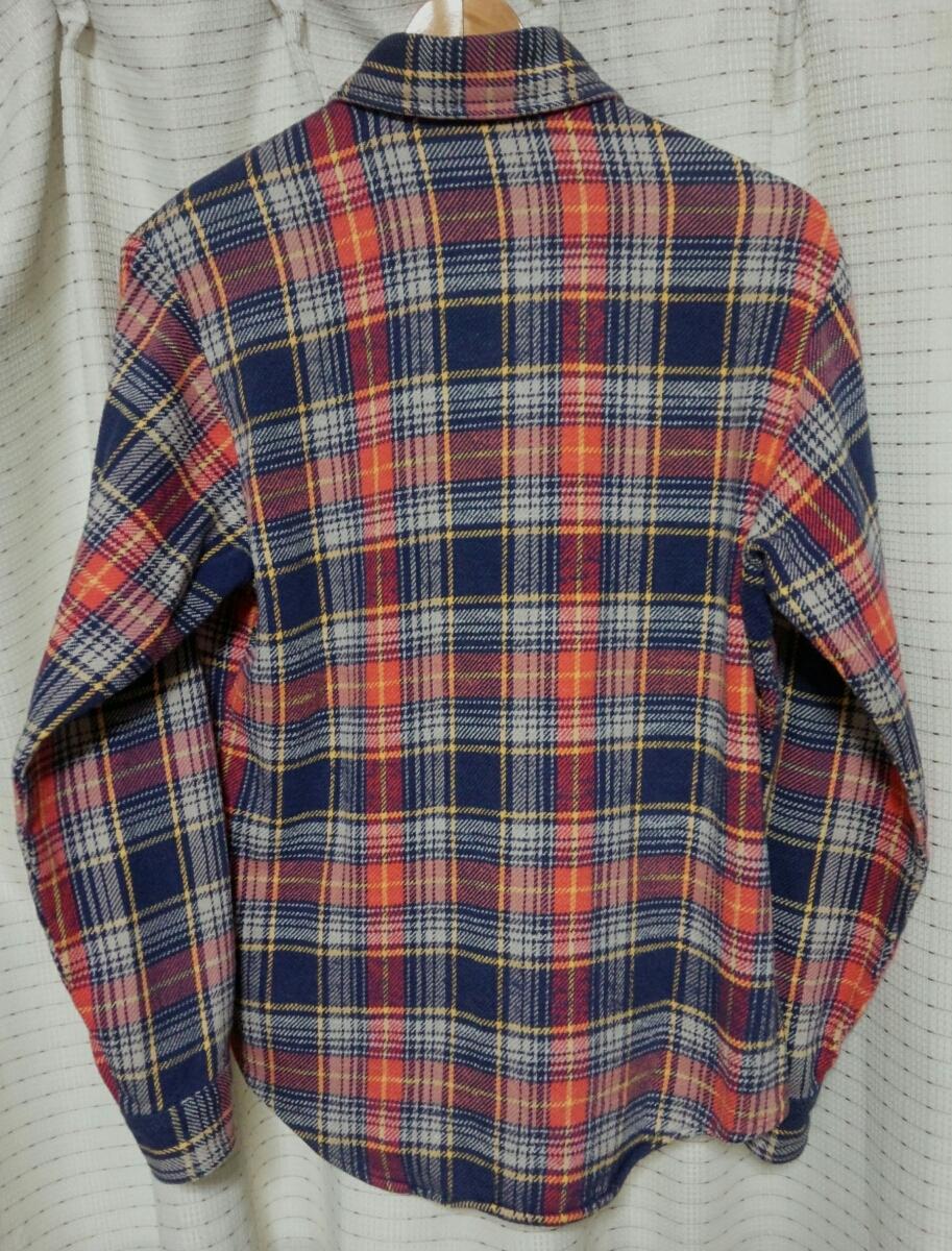 サイズSビッグマックMade in USA製 BIGMACヘビーネルシャツ80sヴィンテージ80年代JCPenneyアメリカ製vintageビンテージJCペニー 赤チェック_画像2