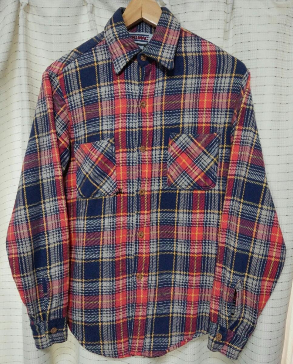 サイズSビッグマックMade in USA製 BIGMACヘビーネルシャツ80sヴィンテージ80年代JCPenneyアメリカ製vintageビンテージJCペニー 赤チェック_画像5