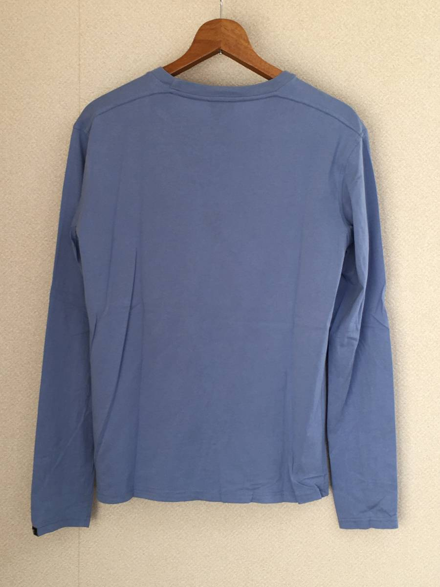 DIESEL/ディーゼル 55DSL 長袖 Tシャツ Mサイズ スカイブルー メンズ 迷彩ロゴ_画像2