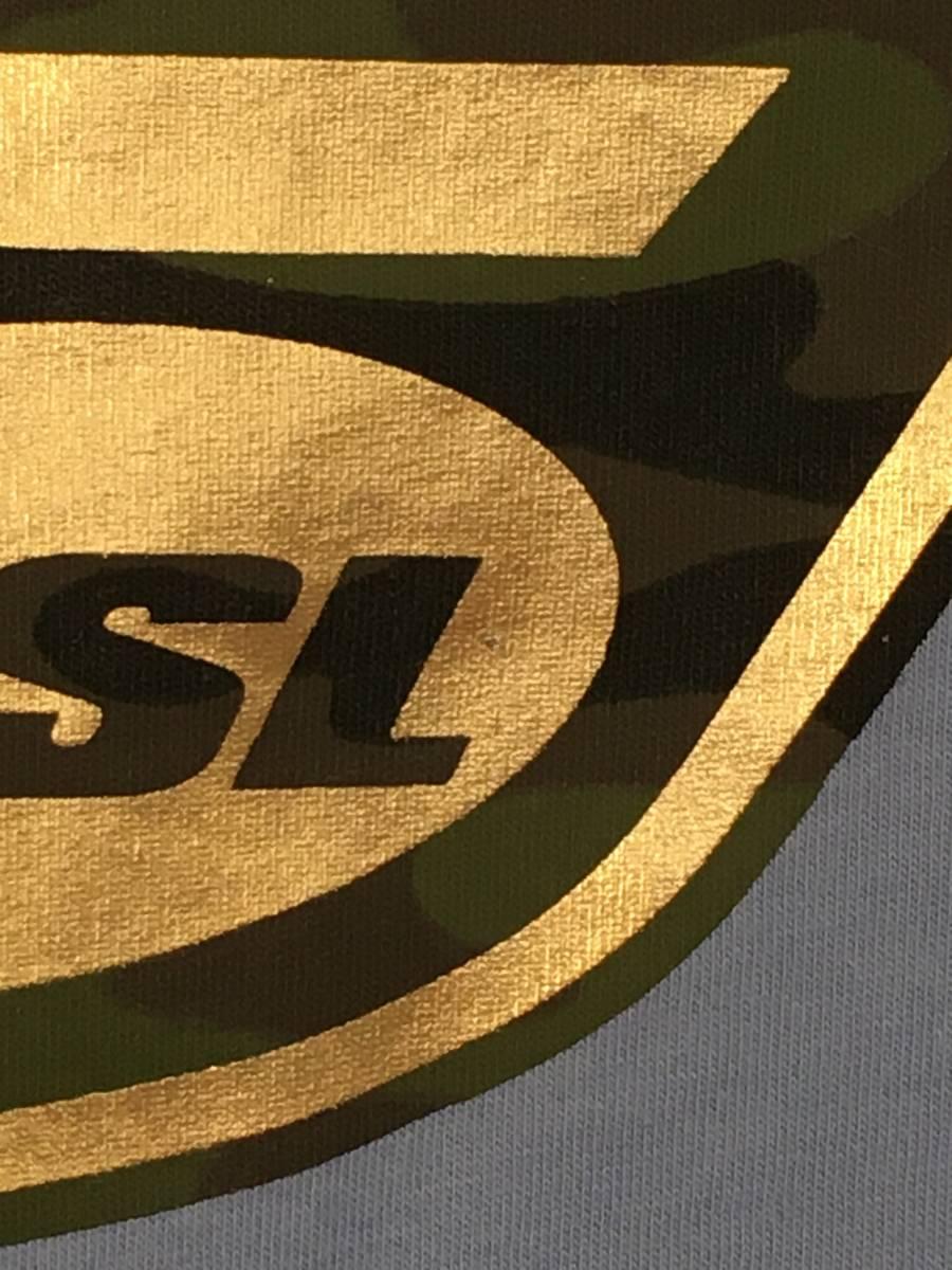 DIESEL/ディーゼル 55DSL 長袖 Tシャツ Mサイズ スカイブルー メンズ 迷彩ロゴ_画像7