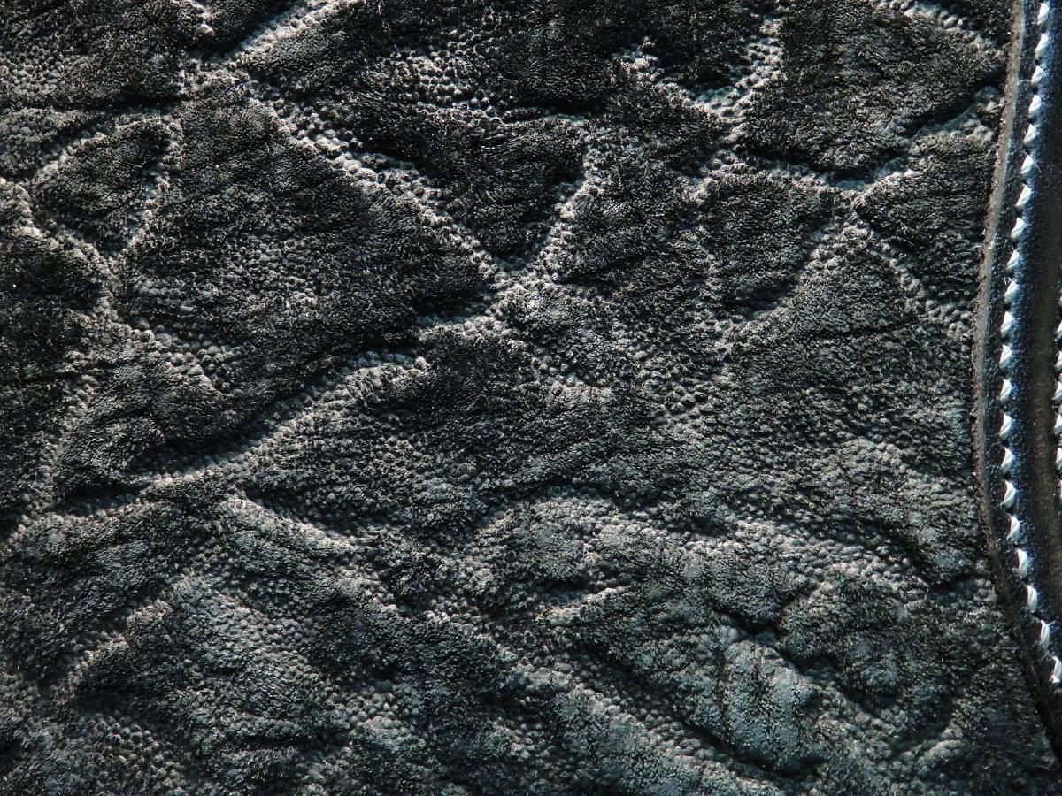 ウォレット カバ革 サドルレザー ヒポレザー 革財布 長財布 手縫い レザークラフト ゾウ革 ハンドクラフト 象革 限定品 新品未使用 即決_画像5