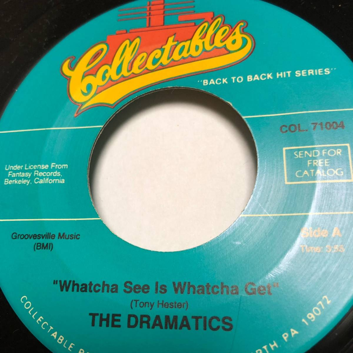 THE DRAMATICS / WHATCHA SEE IS WHATCHA GET / 7インチ_画像2