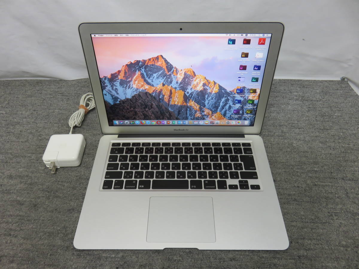 MacBook Air A1369 ◆高速 1.86GHz / 4GB / 高速SSD 128GB ◆ 13.3型 ◆ macOS 10.13. 6◆他の&Office付き◆中古美品◆充放電47回_画像2