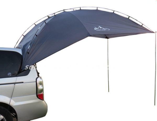 車用タープ テント 日よけテント 様々な車に対応 カーサイドタープ キャンプ テント 簡単設営 キャンプ 大空間 カーサイドテント UVカット_画像5