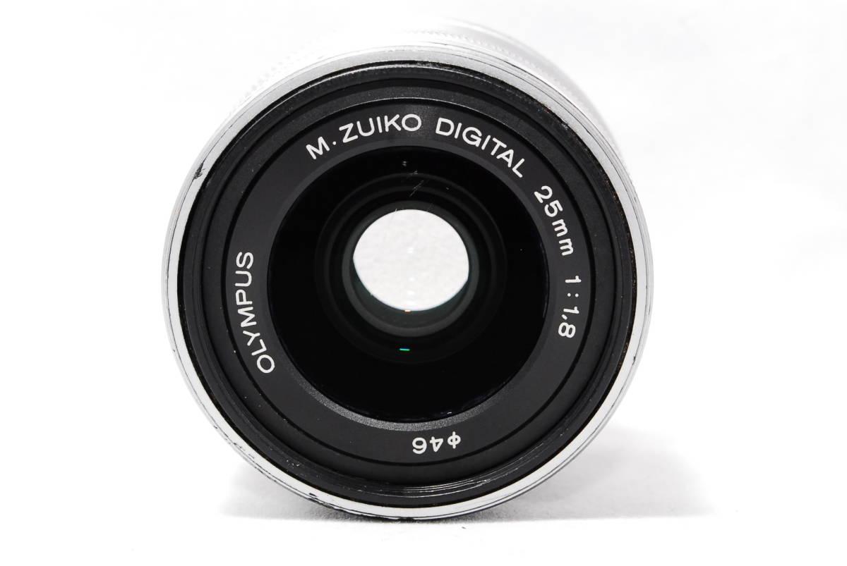 ◆並品◆ オリンパス OLYMPUS M.ZUIKO DIGITAL 25mm F1.8 レンズ 単焦点 シルバー ★動作確認済み★ 動作不具合なし_画像4