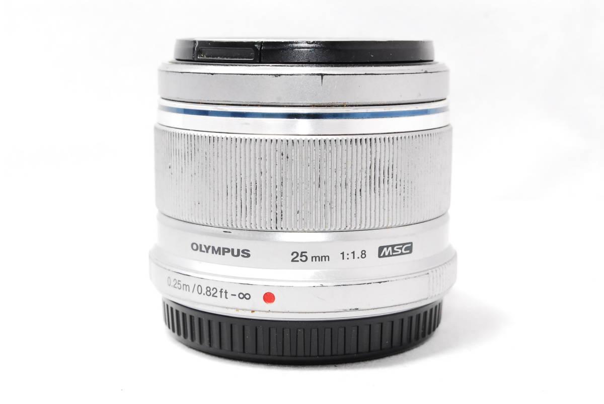 ◆並品◆ オリンパス OLYMPUS M.ZUIKO DIGITAL 25mm F1.8 レンズ 単焦点 シルバー ★動作確認済み★ 動作不具合なし_画像7