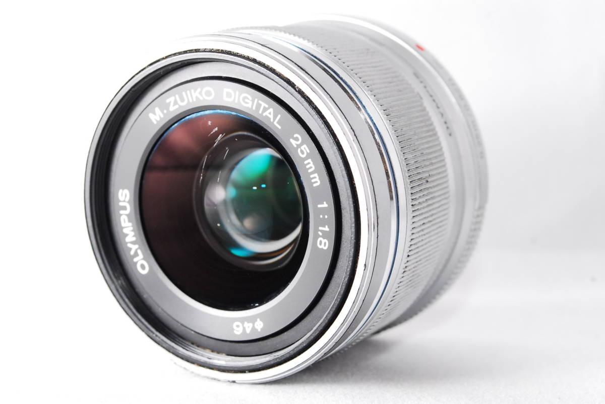 ◆並品◆ オリンパス OLYMPUS M.ZUIKO DIGITAL 25mm F1.8 レンズ 単焦点 シルバー ★動作確認済み★ 動作不具合なし_画像2