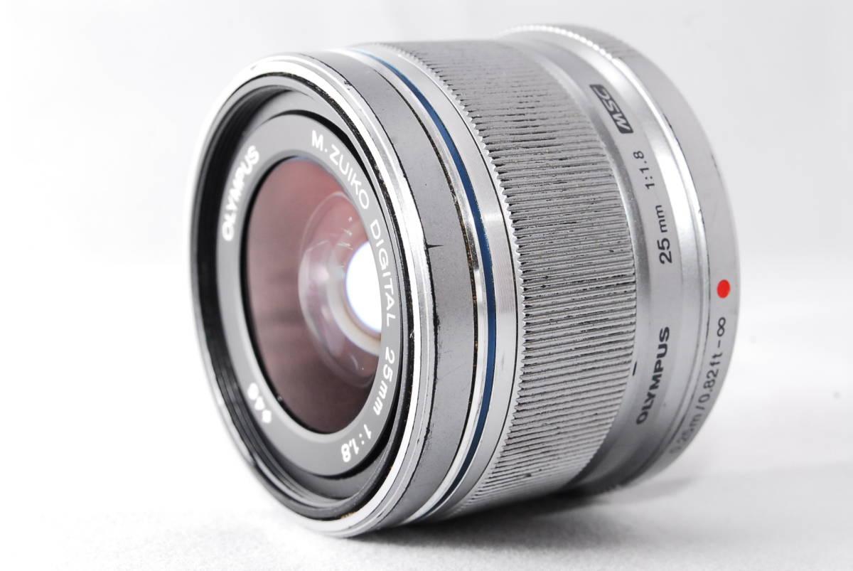 ◆並品◆ オリンパス OLYMPUS M.ZUIKO DIGITAL 25mm F1.8 レンズ 単焦点 シルバー ★動作確認済み★ 動作不具合なし_画像3