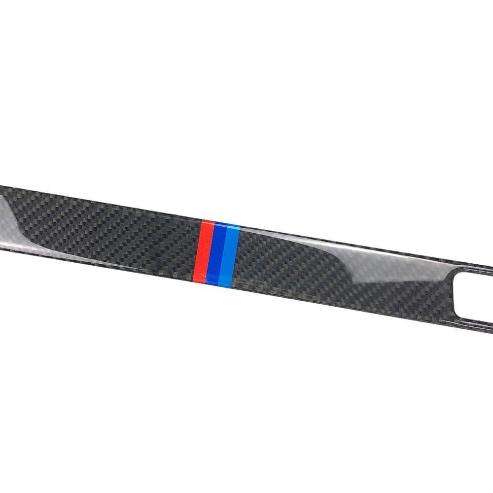 車 外装 For BMW E90 E92 E93 E93 3 Series Carbon Fiber Pilot Pilot Water Cup Holder Panel Dec 送料無料_画像6