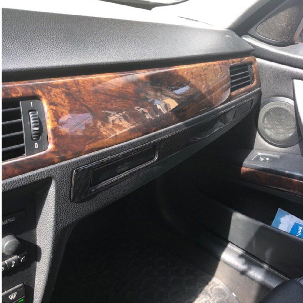 車 外装 For BMW E90 E92 E93 E93 3 Series Carbon Fiber Pilot Pilot Water Cup Holder Panel Dec 送料無料_画像1