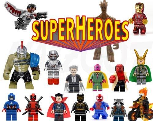 マーブル Super Heroes ミニ Figures - Sets or Individual Lego & Custom 送料無料_画像1