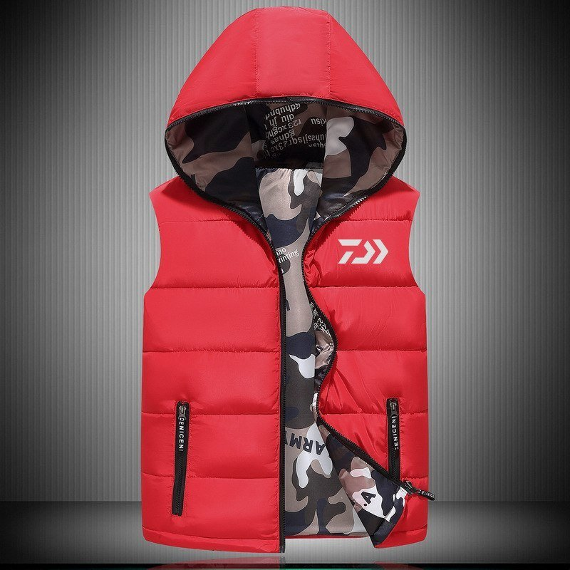 2018 New DAIWA 釣り Vest アウトドア Sport Plus Size メンズ 釣り Jackets Autumn Winter Keep 送料無料_画像2