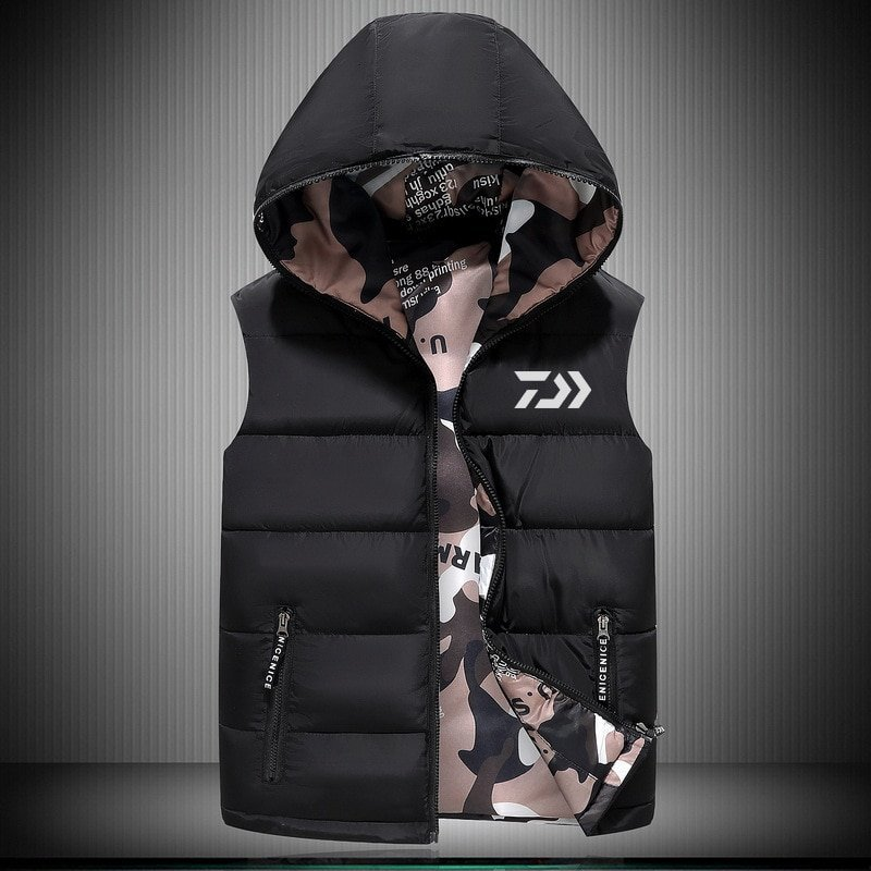 2018 New DAIWA 釣り Vest アウトドア Sport Plus Size メンズ 釣り Jackets Autumn Winter Keep 送料無料_画像1