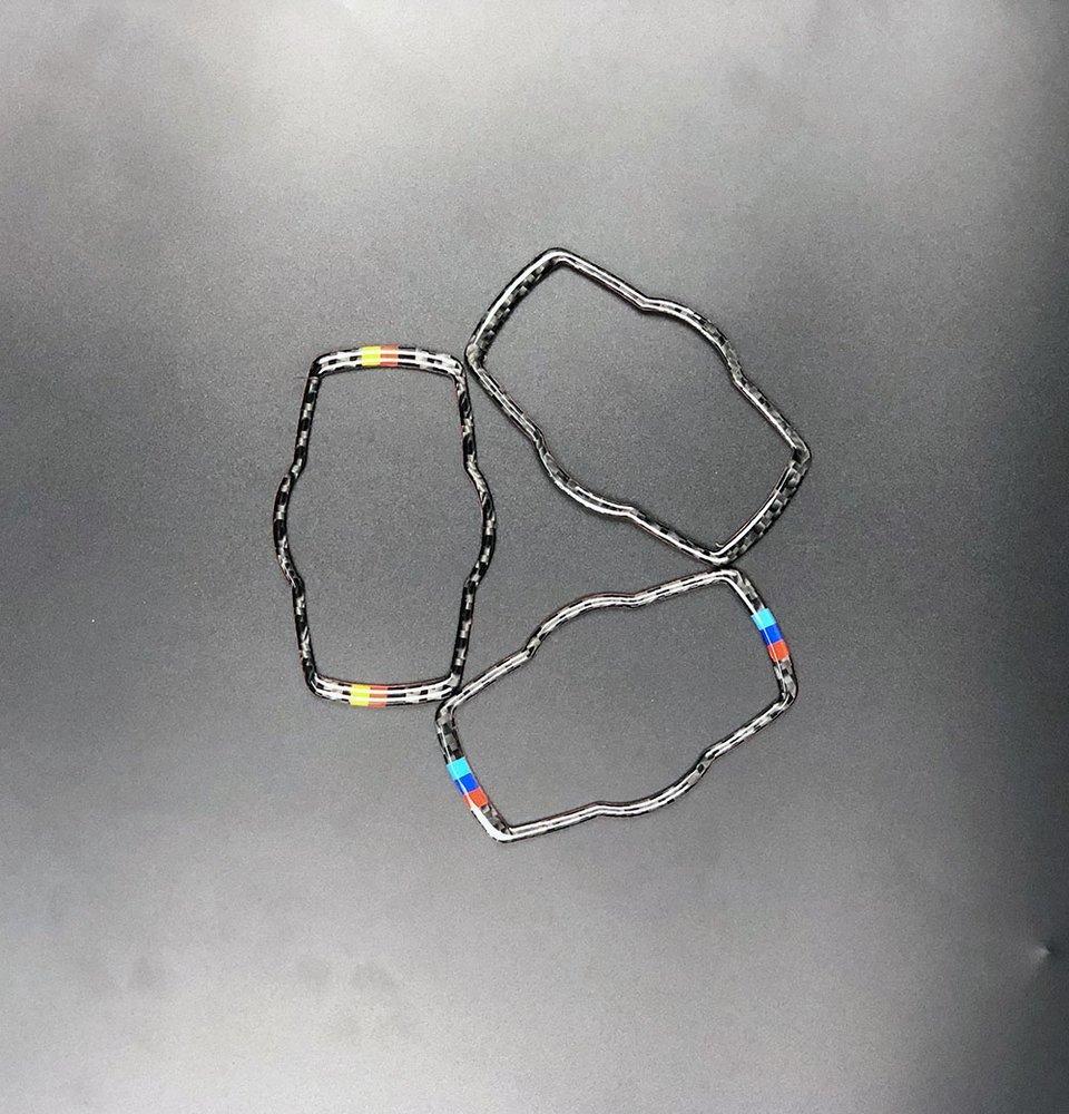 車 外装 For bmw E90 E92 Carbon Fiber Car Headlamp Switch Trim Refit Sticker Switch Frame Dec 送料無料_画像3