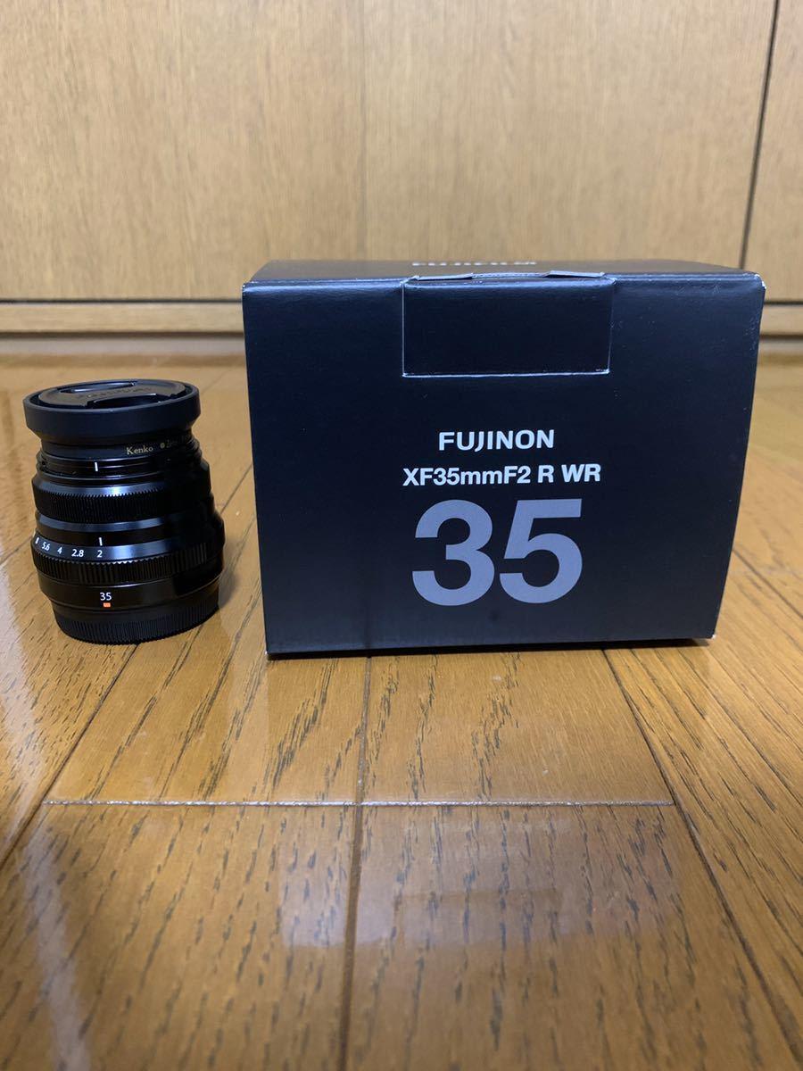 美品 フジフィルム XF35mm F2 R WR 単焦点 元箱付き FUJIFILM レンズフィルター付き