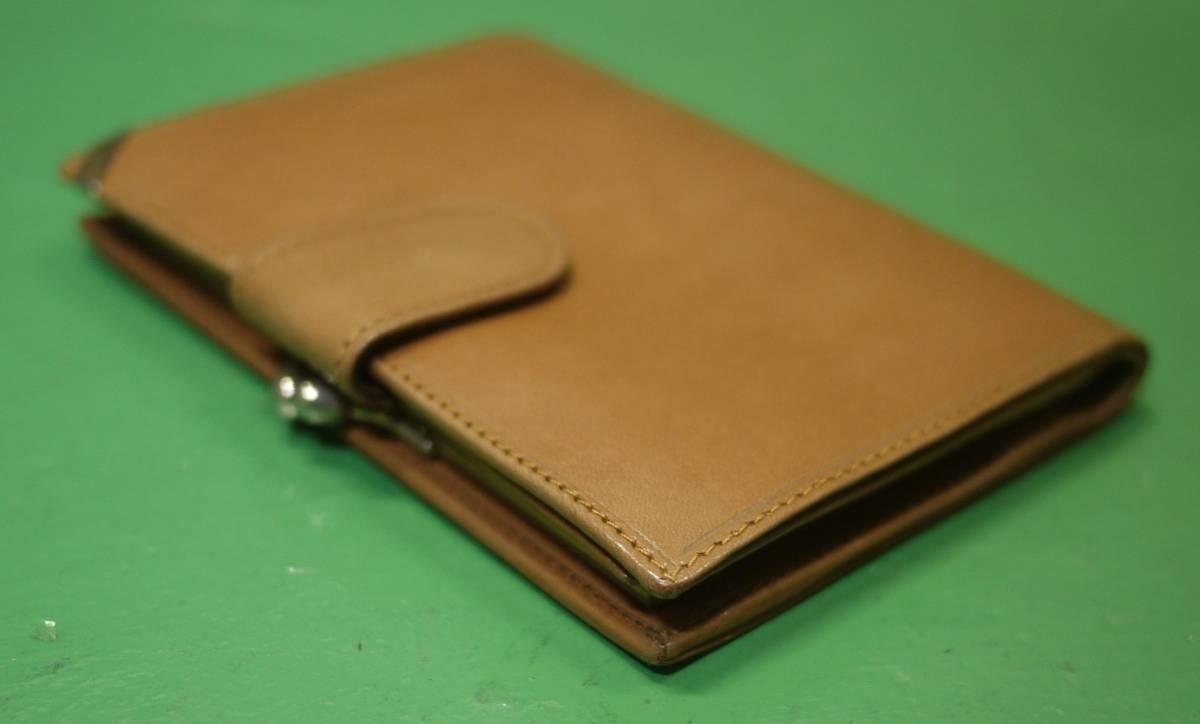 イタリア製 イサンティ i Santi 二つ折り財布 がま口 収納多数_画像5
