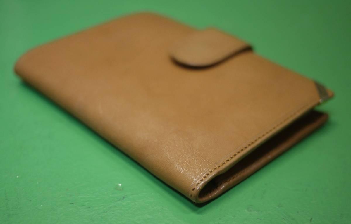 イタリア製 イサンティ i Santi 二つ折り財布 がま口 収納多数_画像3