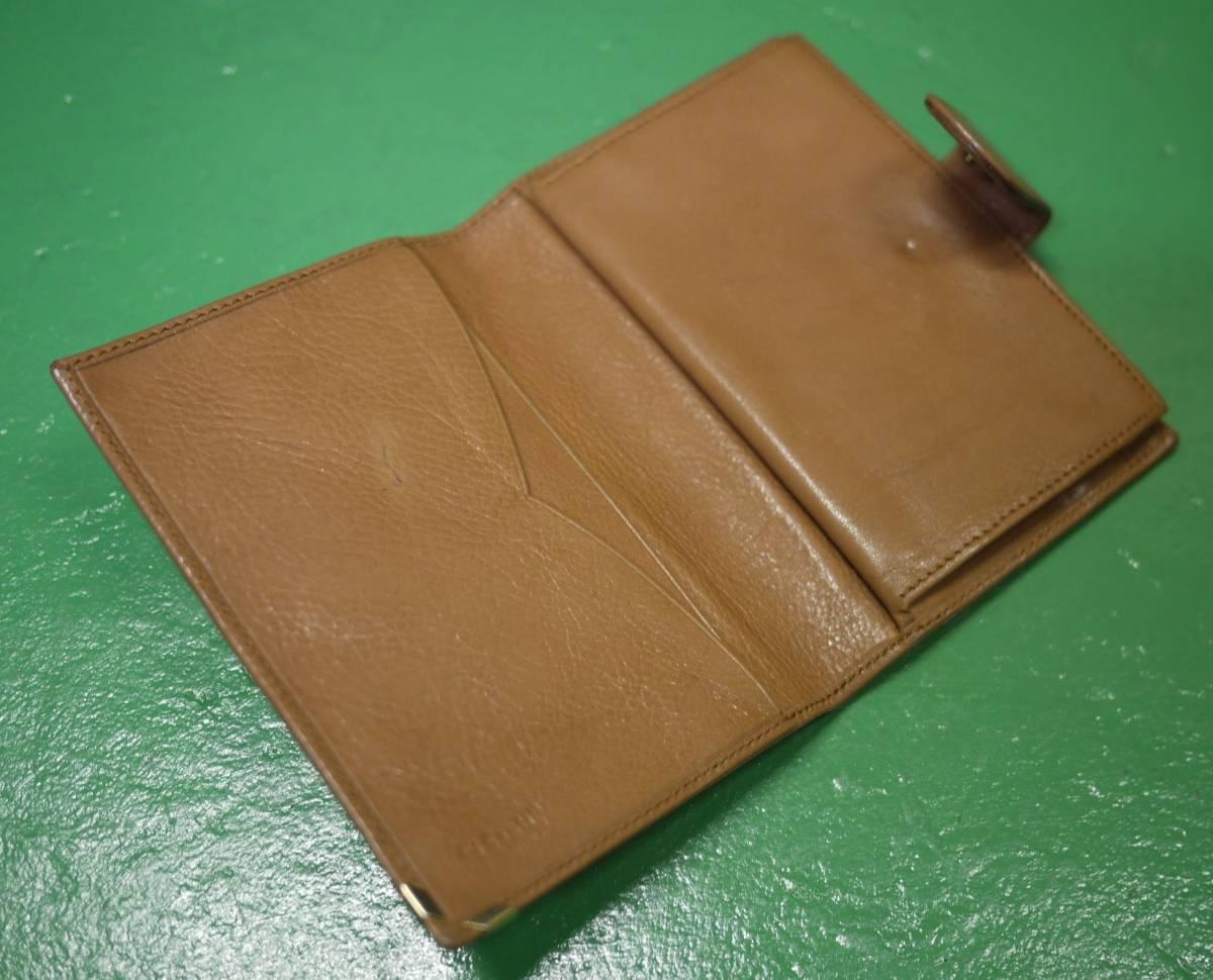 イタリア製 イサンティ i Santi 二つ折り財布 がま口 収納多数_画像6