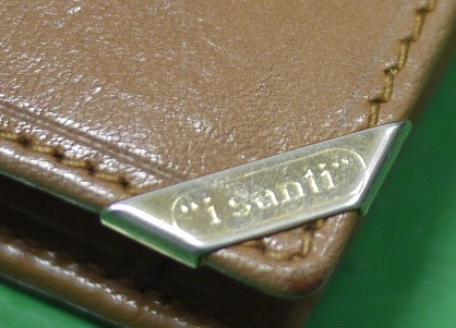 イタリア製 イサンティ i Santi 二つ折り財布 がま口 収納多数_画像9