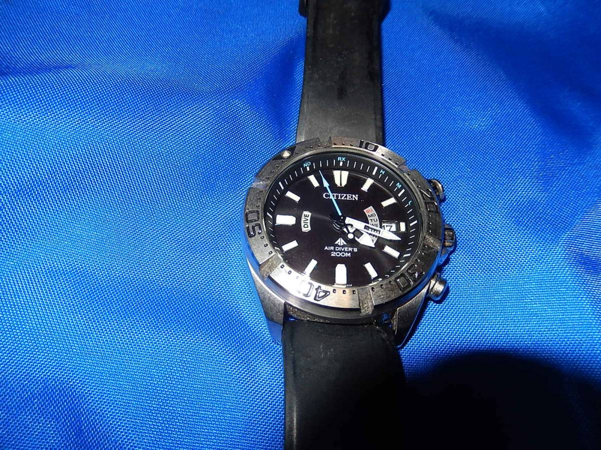 CITIZEN シチズン ECO-DRIVE AIR DIVER'S 200M ダイバー H112-T016651 腕時計