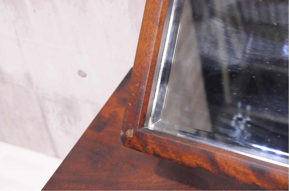 J10Z 北海道民芸家具 ドレッサー 樺材 無垢 化粧台 チェスト 検) 北民 ホクミン 鏡台 キャビネット カガミ 鏡 収納家具 ミラー_画像9