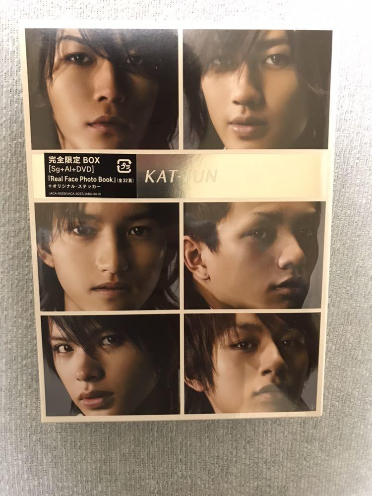 未開封新品 KAT-TUN CD+DVD Real Face Best of KAT-TUN Real Face Film 完全限定BOX 亀梨和也 赤西仁 田中聖 中丸雄一 上田竜也 田口慎之介_画像1