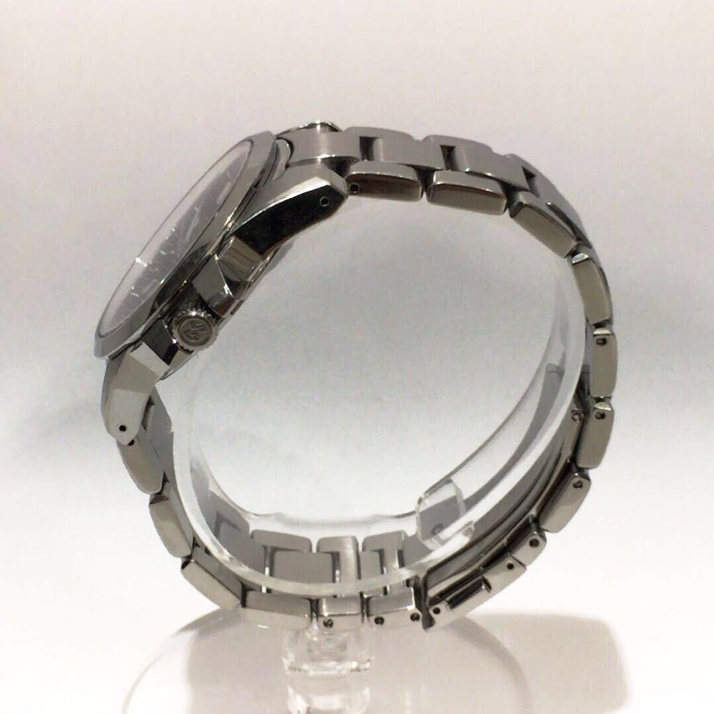 【SEIKO】グランドセイコー GRAND SEIKO GS クォーツ腕時計 SBGX055 9F62-0AA1 黒文字盤 シルバー ブラック 年差クォーツ ts1011_画像3