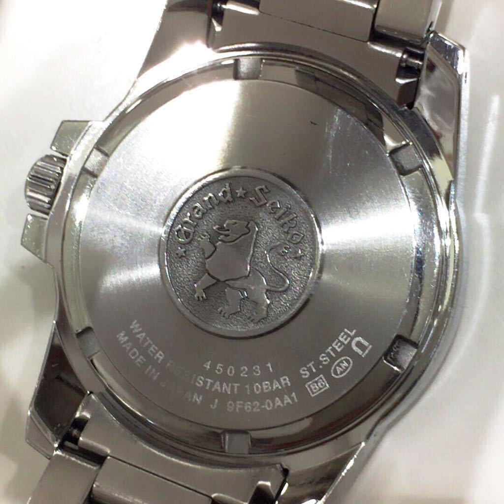 【SEIKO】グランドセイコー GRAND SEIKO GS クォーツ腕時計 SBGX055 9F62-0AA1 黒文字盤 シルバー ブラック 年差クォーツ ts1011_画像8
