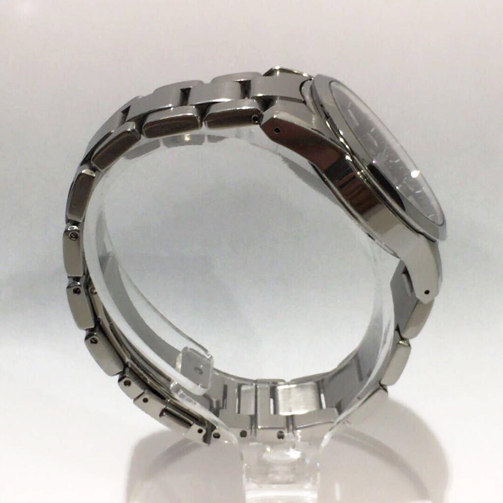 【SEIKO】グランドセイコー GRAND SEIKO GS クォーツ腕時計 SBGX055 9F62-0AA1 黒文字盤 シルバー ブラック 年差クォーツ ts1011_画像5