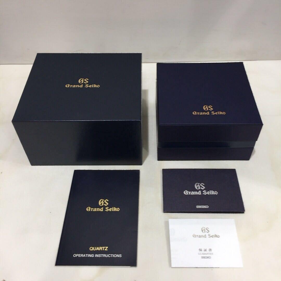 【SEIKO】グランドセイコー GRAND SEIKO GS クォーツ腕時計 SBGX055 9F62-0AA1 黒文字盤 シルバー ブラック 年差クォーツ ts1011_画像10