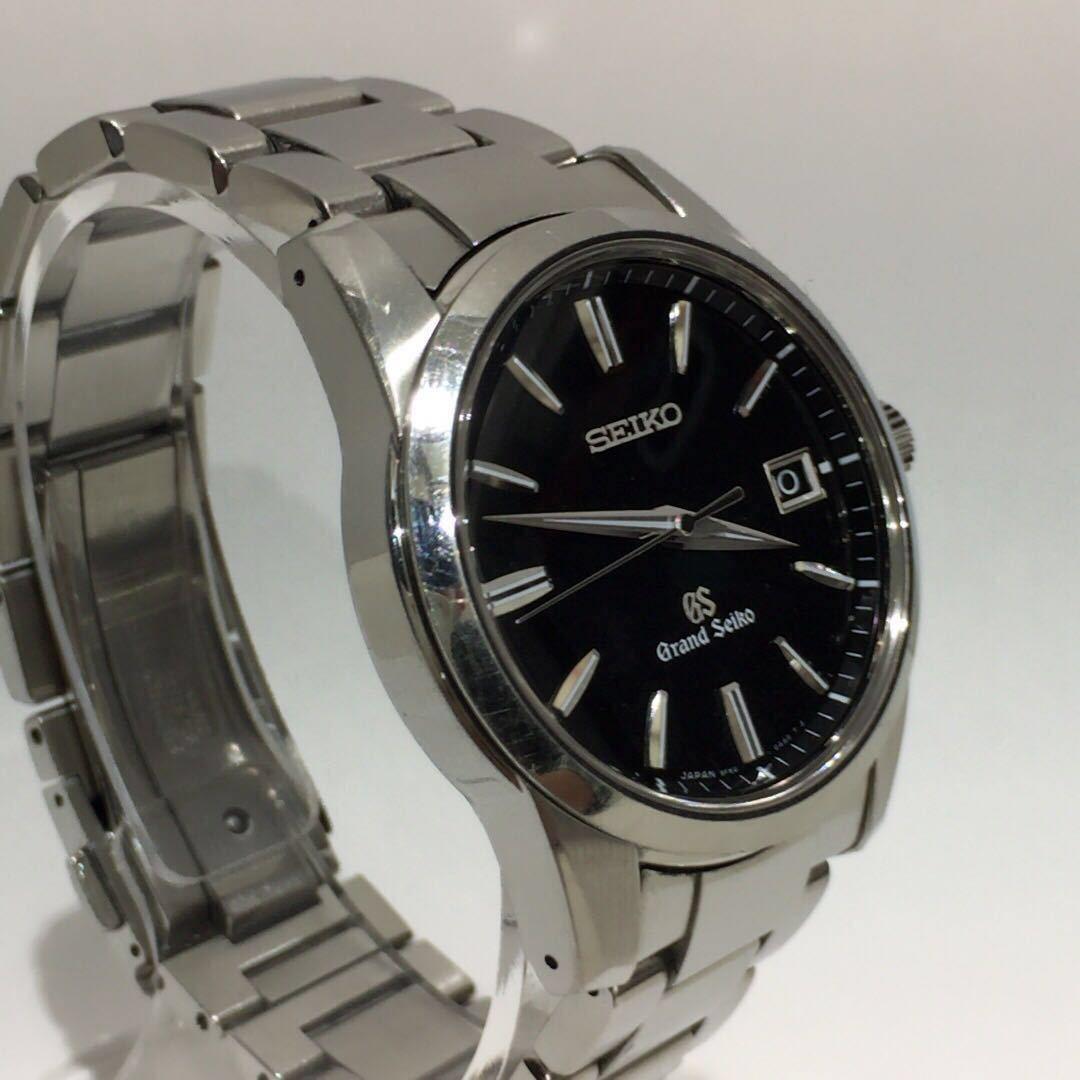 【SEIKO】グランドセイコー GRAND SEIKO GS クォーツ腕時計 SBGX055 9F62-0AA1 黒文字盤 シルバー ブラック 年差クォーツ ts1011_画像6