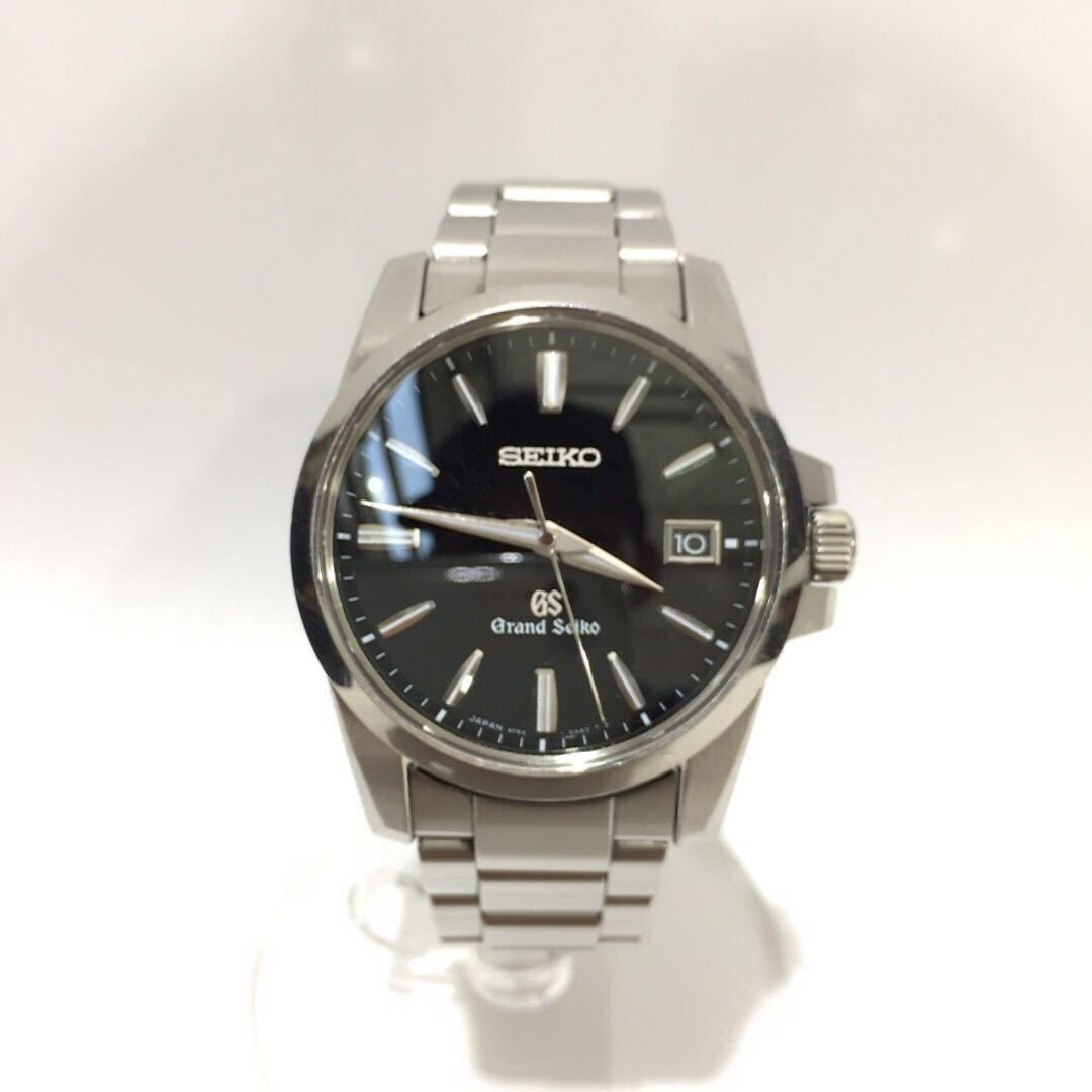 【SEIKO】グランドセイコー GRAND SEIKO GS クォーツ腕時計 SBGX055 9F62-0AA1 黒文字盤 シルバー ブラック 年差クォーツ ts1011_画像2