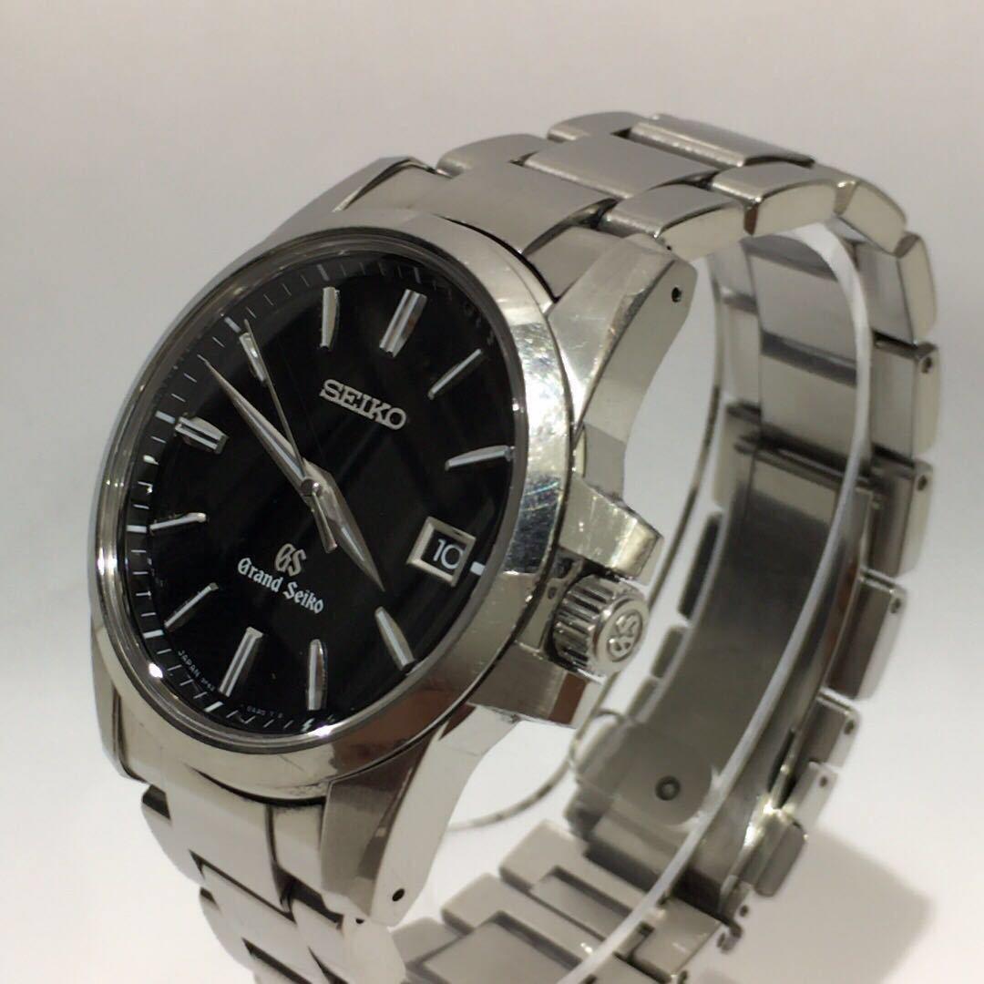 【SEIKO】グランドセイコー GRAND SEIKO GS クォーツ腕時計 SBGX055 9F62-0AA1 黒文字盤 シルバー ブラック 年差クォーツ ts1011_画像7