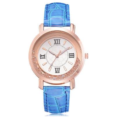 箔押し腕時計 ラインストーンレザーブレスレット腕時計 女性ファッションウォッチレディース合金アナログクォーツ k-550_画像6