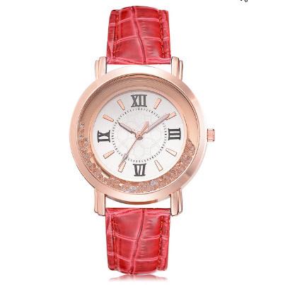 箔押し腕時計 ラインストーンレザーブレスレット腕時計 女性ファッションウォッチレディース合金アナログクォーツ k-550_画像7