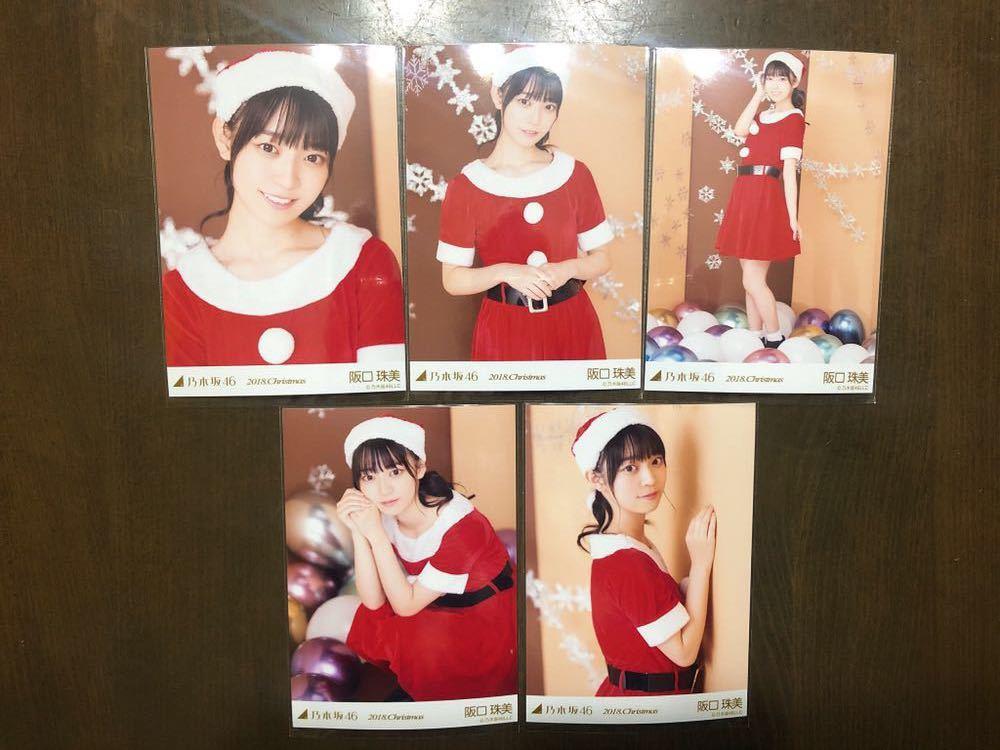 乃木坂46 2018年 Christmas 阪口珠美 個別クリスマス 生写真 サンタ 5種 コンプ