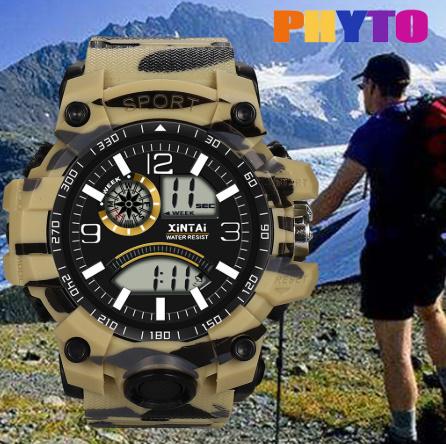 ファッションハイエンド多機能 30 メートルスポーツ防水電子時計 デジタルメンズ腕時計 屋外スポーツ防水電子時計 -y0613_画像1