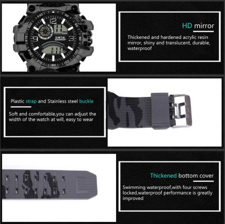 ファッションハイエンド多機能 30 メートルスポーツ防水電子時計 デジタルメンズ腕時計 屋外スポーツ防水電子時計 -y0613_画像3