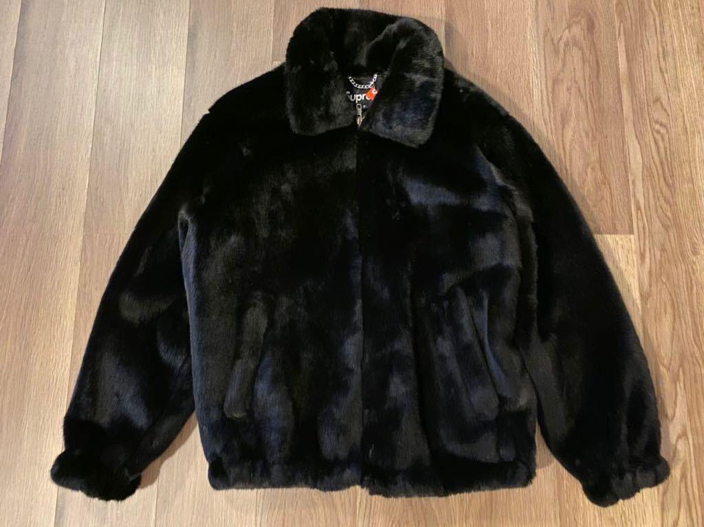 Supremeシュプリームfaux fur jacketファーブルゾン新品未使用サイズS黒ジャケットボックスロゴパーカースウェットTシャツ_画像3