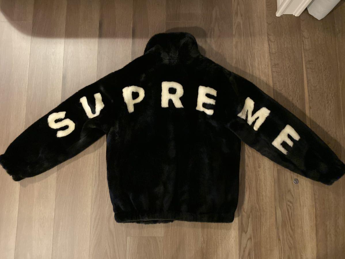 Supremeシュプリームfaux fur jacketファーブルゾン新品未使用サイズS黒ジャケットボックスロゴパーカースウェットTシャツ_画像2