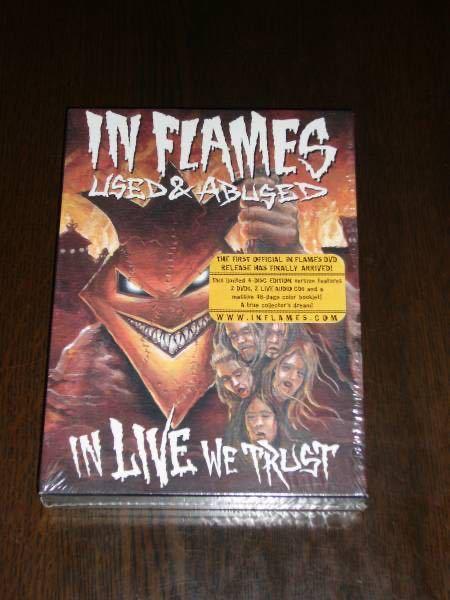 輸入盤  IN FLAMES/used and abused...in live we trust