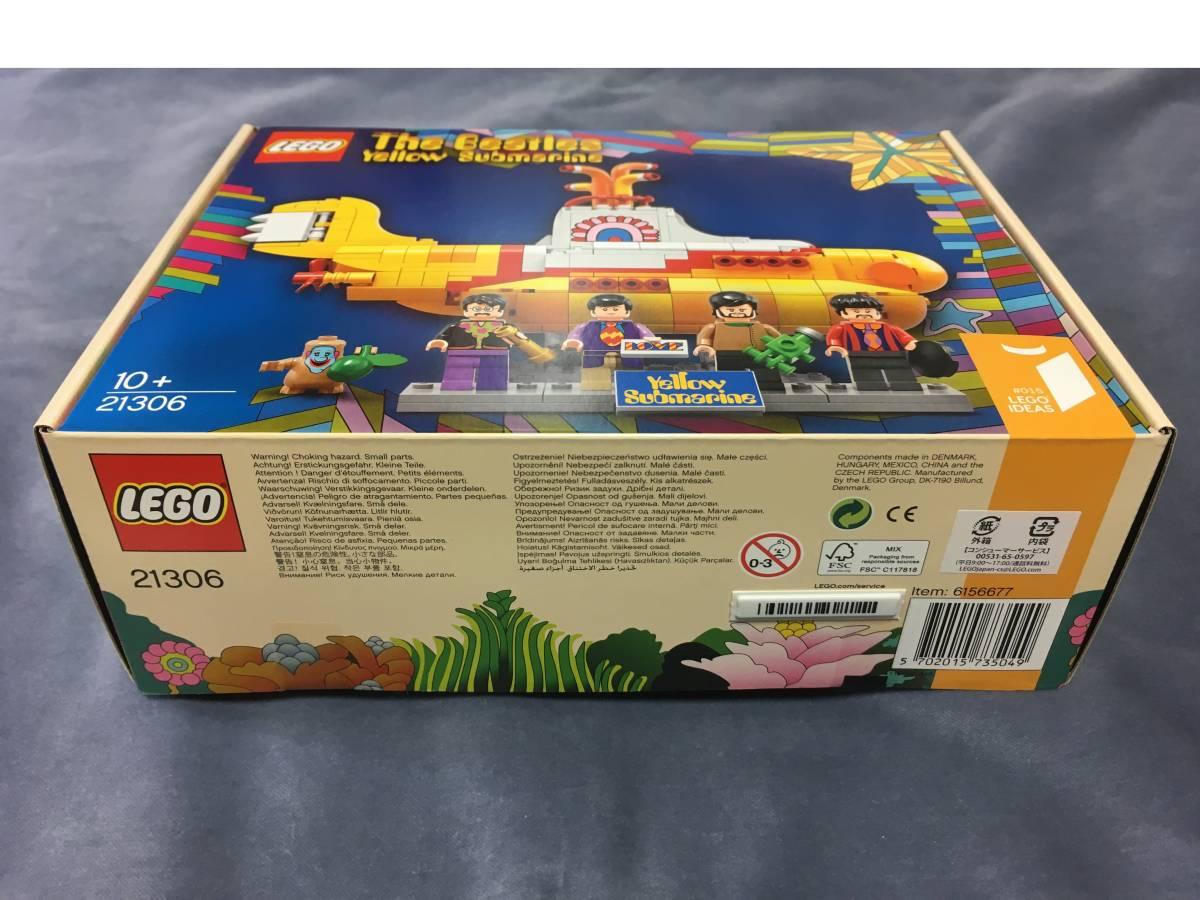 LEGO IDEAS「The Beatles Yellow Submarine 21306」アイデア ザ・ビートルズ イエローサブマリン レゴ _商品バーコードが貼られています