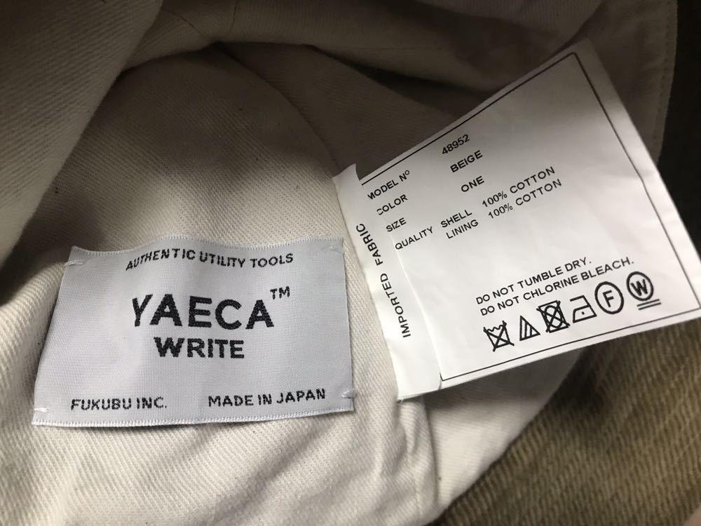 ★美品★YAECA WRITE★ヤエカ ライト[48952]HATハット/ベージュ/検1LDK帽子/コーデュロイ_画像5