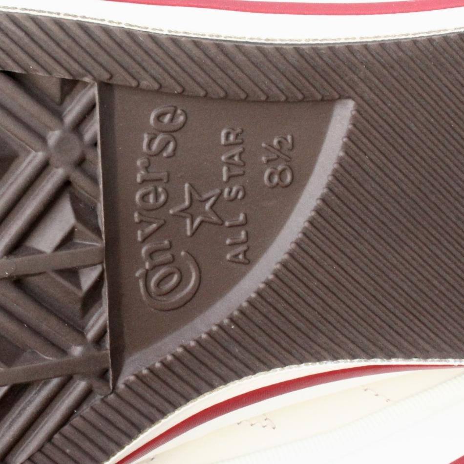 【SALE】極上美品CONVERSEワンスターJ白赤MADE IN JAPAN US8.5 (26.5-27cm) (日本製コンバース ホワイト レッドOXレザー1円スタートyk98057_画像9