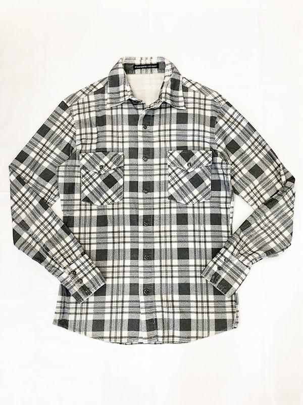 バックボーン ベーシック BACK BONE THE BASIC ネルシャツ S ホワイト ブラック 送料520円 チェック 白 黒 北原哲夫 _画像1